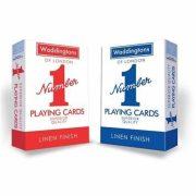 Waddingtons of London No.1. Kék/piros franciakártya
