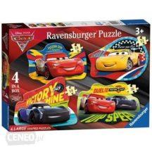 Ravensburger 068913 4 az 1-ben puzzle - Verdák 3 (10, 12, 14 és 16 db-os)
