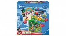 Ravensburger 07088 3 az 1-ben puzzle - Mickey egér és barátai, Mickey parkja (25, 36 és 49 db-os)