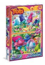 Clementoni puzzle -  Trolls (2x60 db-os) 07128