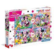 Clementoni 07615 SuperColor Puzzle - Minnie és barátai 4 az 1-ben (2x20 és 2x60 db)