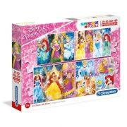Clementoni 07721 SuperColor Puzzle - Disney hercegnõk 4 az 1-ben (20-60-100-180 db)