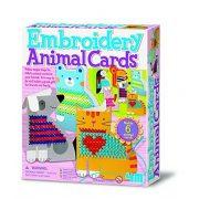 4M Hímzés suli állatos kártyával