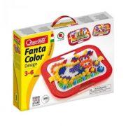 Quercetti FantaColor tároló dobozos pötyi játék, bocis - 300 db vegyes tüskével