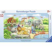 Ravensburger 06116 puzzle - Kalandok az állatkertben (15 db-os)