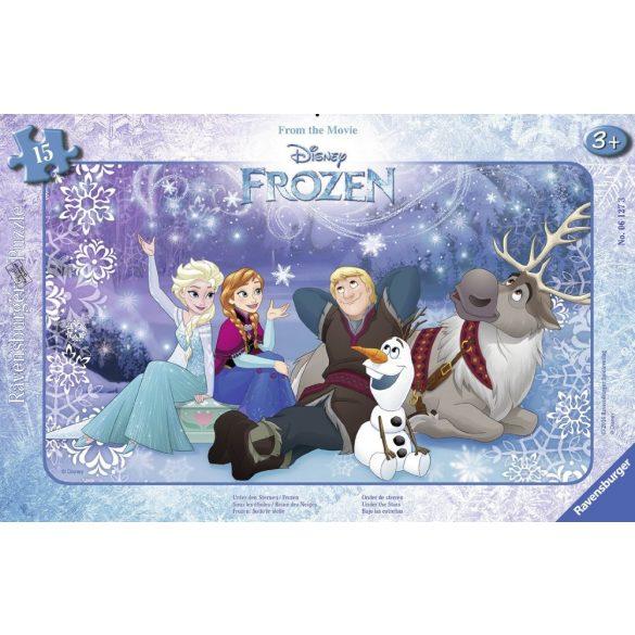Ravensburger 06127 Disney puzzle - Jégvarázs a csillagok alatt (15 db-os)