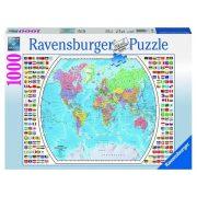 Ravensburger 196333 puzzle - Világtérkép (1000 db-os)