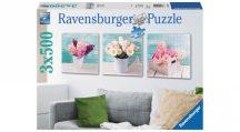 Ravensburger 19922 puzzle - Színes virágos üdvözlet (3x500 db-os)