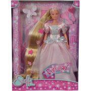 Steffi Love - Extra hosszú aranyhajú Steffi baba rózsaszín ruhában (30 cm)