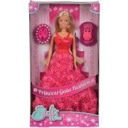 Steffi Love - Steffi hercegnő baba pink, rózsadíszítésű báli ruhában (30 cm)