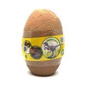 Art & Fun dinoszaurusz tojás - Bézs tojás Velociraptor csontvázzal
