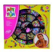 Art & Fun - Óriás színes mûanyag gyöngyfûzõ készlet (5000 db-os)