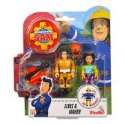 Sam a tűzoltó 2 db-os figura - Elvis & Mandy
