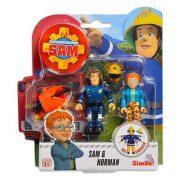Sam a tűzoltó 2 db-os figura - Sam & Norman