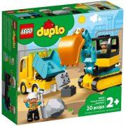 LEGO DUPLO Town 10931 Teherautó és lánctalpas exkavátor