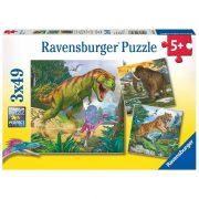 Ravensburger 09358 puzzle - Dinoszauruszok (3x49 db)