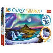 Trefl 11114 Crazy Shapes puzzle - Sarki fény Izlandon (600 db)