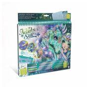 Nebulous Stars Kreatív vázlatfüzet - Fantasy lovak (zöld)