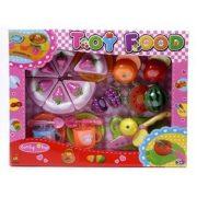 Konyhakészlet vágható ételekkel (25 db-os)