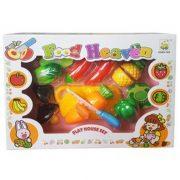Műanyag vágható gyümölcs és zöldség (14 darabos készlet)
