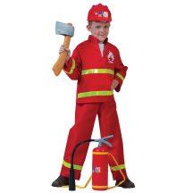 Gyerek jelmez - Tűzoltó jelmez (L-es méret, 140 cm)