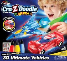 Cra-Z-Doodle 3D Határtalan fantázia játékszett - 3D Járgányok