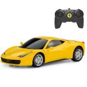 Rastar 46600 Távirányítós autó 1:24-es méretaránnyal - Ferrari 458 Italia (sárga)