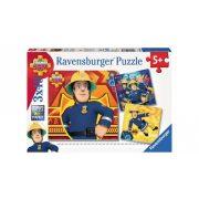 Ravensburger 09386 puzzle - Sam, a tűzoltó (3x49 db-os)