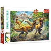 Trefl 15360 puzzle - Harcoló Tyrannosaurusok (160 db)