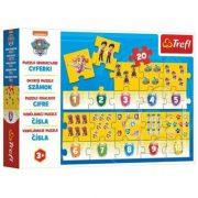 Trefl 15578 Oktató puzzle - Számolj a Mancs õrjárattal (20 db)