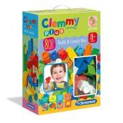 Clemmy Plus 17257 - Fiús puha építőkocka szett 80 db