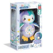 Baby Clementoni Világító Jó éjt bagoly plüss