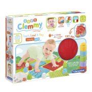 Soft Clemmy Készségfejlesztő játszószőnyeg puha építőkockákkal