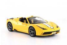 RASTAR 74500 Távirányítós autó 1:14-es méretaránnyal - FERRARI 458 CONVERTIBLE (sárga)