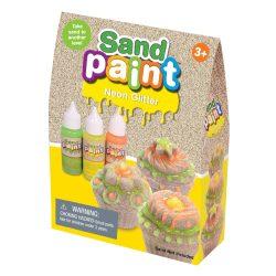 SandPaint csillámló homokfesték NEON - 3 flakon