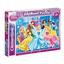 Clementoni Brilliant puzzle - Disney Hercegnők (104 db-os) 20128