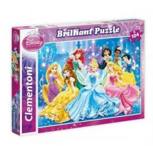 Clementoni 20128 Brilliant puzzle - Disney Hercegnők (104 db-os)