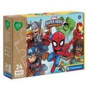 Clementoni 20262 Play for Future Maxi puzzle - Marvel szuperhősök (24 db)