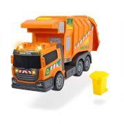 Dickie Toys Action Series - Sárga kukásautó fénnyel és hanggal