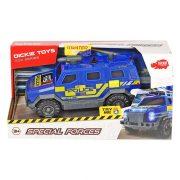 Dickie Toys SOS Series - Special Forces páncélozott rendőrautó fénnyel és hanggal