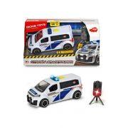 Dickie Toys SOS Series - Citroen Spacetourer rendőrautó trafipax-szal