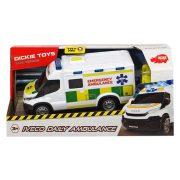 Dickie Toys SOS Series - Iveco Daily Ambulance mentőautó fénnyel és hanggal