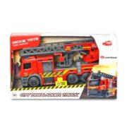 Dickie Toys SOS series - Létrás tűzoltóautó fénnyel és hanggal