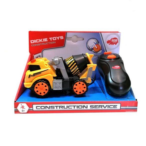 Dickie Toys Construction Service - Távirányítós betonkeverő