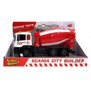 Dickie Toys Construction - Scania betonkeverő autó (piros)