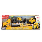Dickie Toys Construction - Volvo Munkagépeket szállító Mack kamion