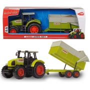 Dickie Toys Farm - Claas Ares 836 RZ traktor billenthető utánfutóval