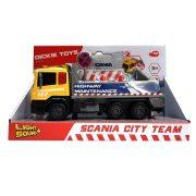 Dickie Toys City - Scania autópálya karbantartó teherautó fénnyel és hanggal