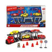 Dickie Toys City - Autószállító kamion szett 5 kisautóval