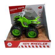 Dickie Toys Action Series - 4x4 hajtású zöld quad